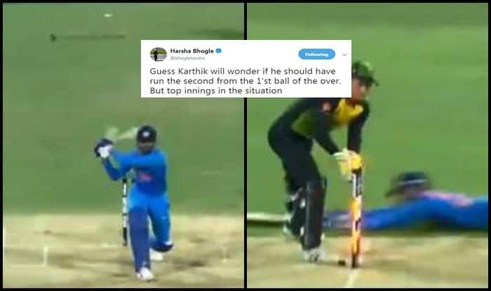 India vs Australia 1st T20I Brisbane: Harsha Bhogle Feels Dinesh Karthik Should Not Have Taken a Double And Kept Strike From Krunal Pandya in Last Over | WATCH