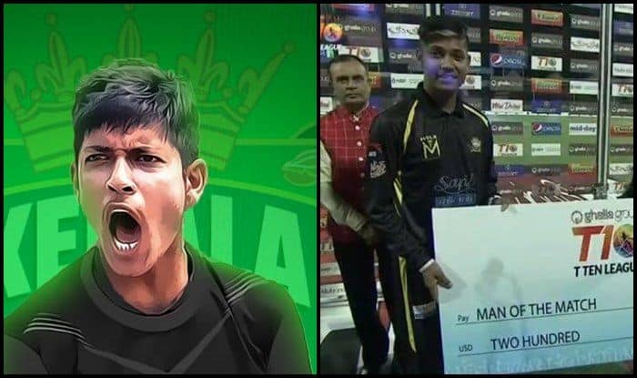 T10 League 2018: Kerala Knights vs Pakhtoons: Sandeep Lamichhane Bags Man of The Match With Three Wickets   WATCH