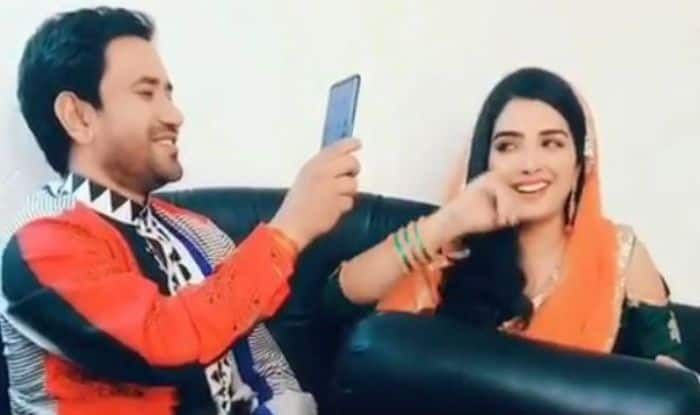 Bhojpuri Hot Couple Amrapali Dubey And Dinesh Lal Yadav's Adorable Jugalbandi on Buddha Karikha Lagayila Will Make You go ROFL – Watch Video