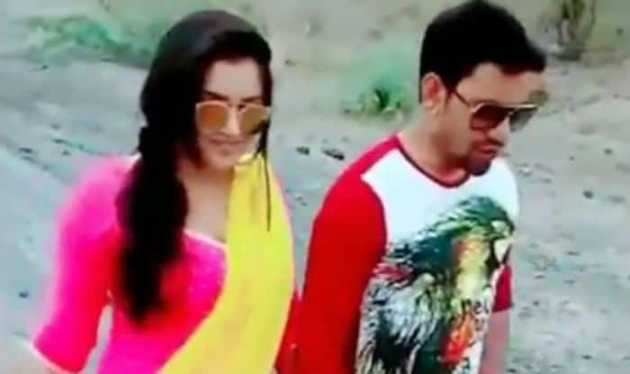 Bhojpuri Hot Rumoured Couple Amrapali Dubey And Dinesh Lal Yadav Romantically Walk Hand-in-Hand in This Video – Watch