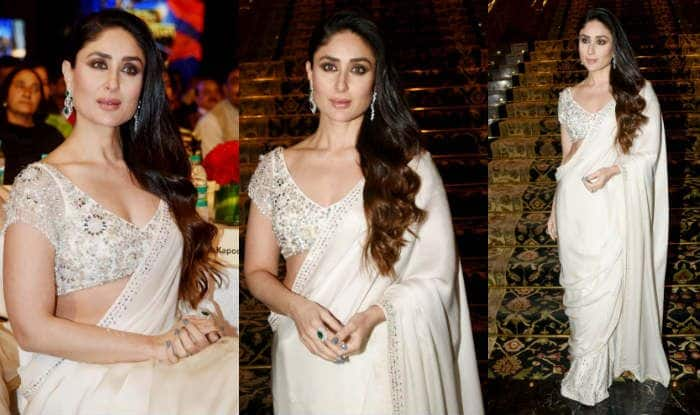 Kareena Kapoor Khan Wears a White Manish Malhotra Saree at an Award Ceremony But Her Drape Looks Weird, See Pics