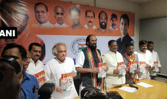 Telangana Assembly Election 2018: Congress Releases Manifesto Ahead of Polls, Promises Farm Loan Waiver, Health Scheme Among Others