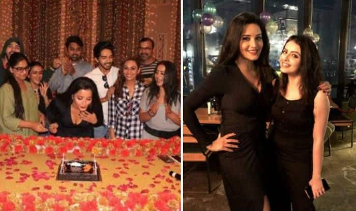 Bhojpuri Sizzler And Nazar Fame Monalisa Looks Super Hot in Black Slit Dress And Red Lips as She Celebrates Her Birthday – See Pictures