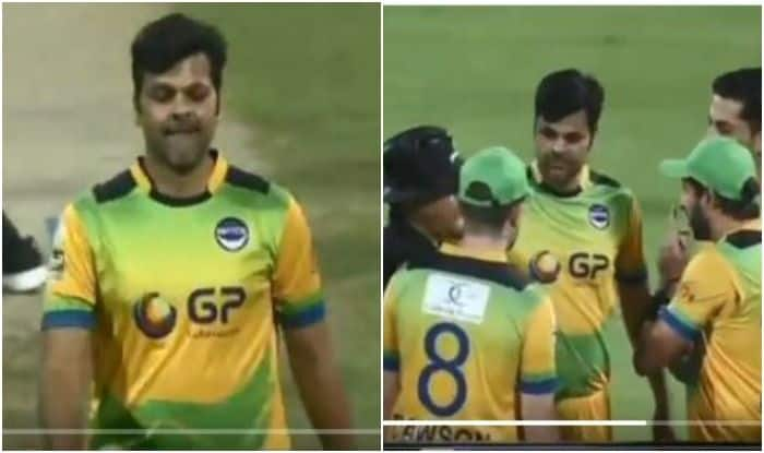 T10 Cricket League: RP Singh, Shahid Afridi Engage in Mid-Over Controversy With On-Field Umpires After Sunil Narine Misses Shot | WATCH