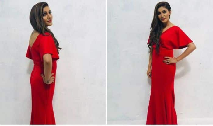Haryanvi Sensation Sapna Choudhary Looks Her Sexiest Best in Hot Red Gown in Her Latest Photoshoot – See Pictures