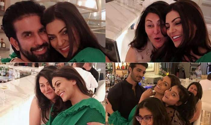 Sushmita Sen Looks All Loved-up With Her Family by Her Side Celebrating Her 43rd Birthday in Dubai