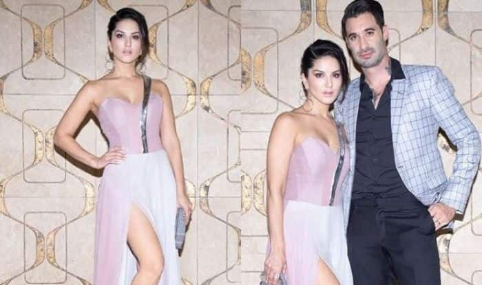 Sunny Leone Looks Smoking Hot in a Thigh-High Slit Dress, See Pics