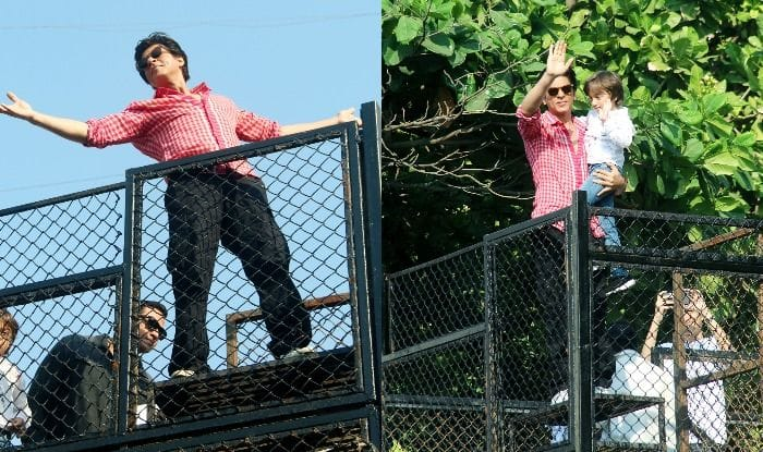 Shah Rukh Khan And AbRam Khan Wave to Fans at Mannat Ahead of Zero Trailer Launch, See Pics
