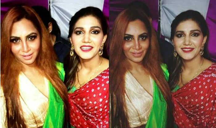 Haryanvi Hotness Sapna Choudhary Shows Off Sexy Thumkas With Arshi Khan in WWE Ring, Watch