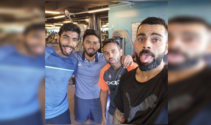 India vs Australia 1st Test: Virat Kohli, Rishabh Pant, Parthiv Patel, Jasprit Bumrah Exhausted After Circuit Training Ahead of Adelaide Test | PIC