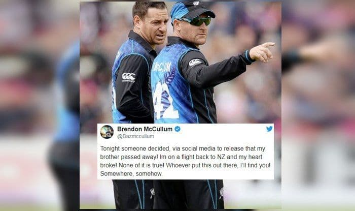 Brendon McCullum Trashes Fake News Of Brother's Death, Vows To Find Miscreant