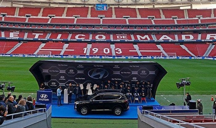 Atletico Madrid received SUVS_Picture credits- ATM official handle