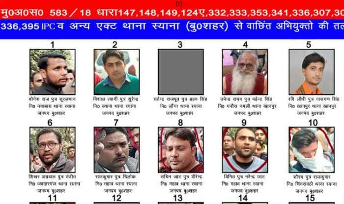 Bulandshahr Violence: District Police Releases Pictures of 18 Accused Absconding, Says It'll Attach Their Movable Properties