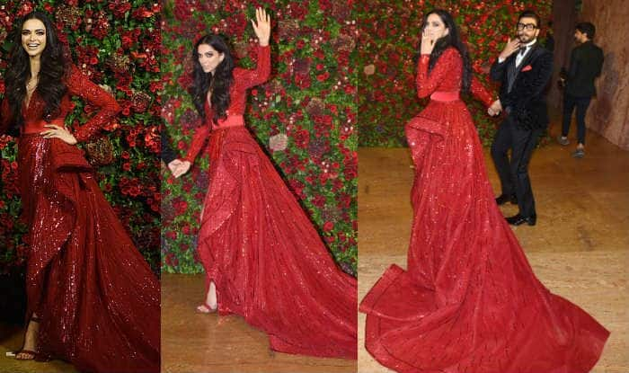 Deepika Padukone Wears a Deep Red Zuhair Murad Gown at Her ...