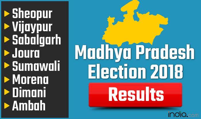 Madhya Pradesh Election 2018 Results: Sheopur, Vijaypur, Sabalgarh, Joura, Sumawali, Morena, Dimani, Ambah Vote Counting Live Updates