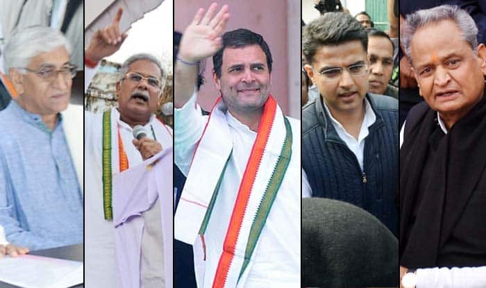 Assembly Elections 2018: Rahul Gandhi to Meet Ashok Gehlot, Sachin Pilot, TS Singh Deo, Bhupesh Baghel, Charan Das Mahant For Decision on Rajasthan, Chhattisgarh CMs