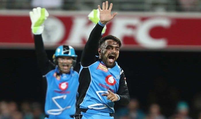 Big Bash Leaggue 2018-19: Rashid Khan Stands on Brink of History, Set to Become First Bowler to Scalp 100 T20 Wickets