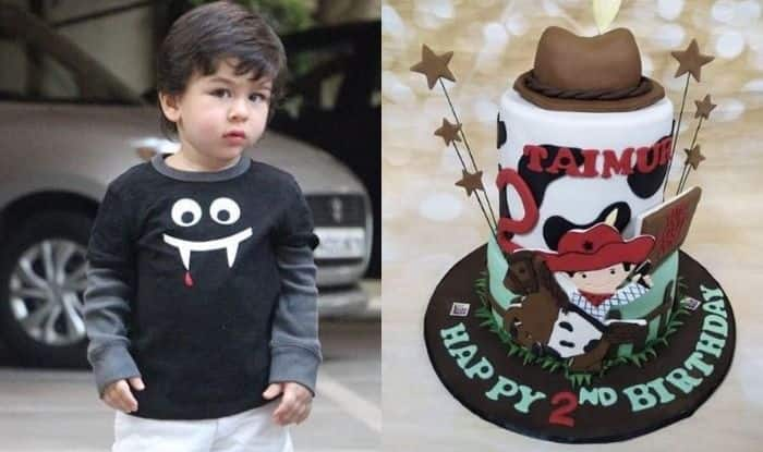 Taimur Ali Khan Has Extravagant Pre-Birthday Bash With Cowboy Themed Cake, Customised T-Shirts
