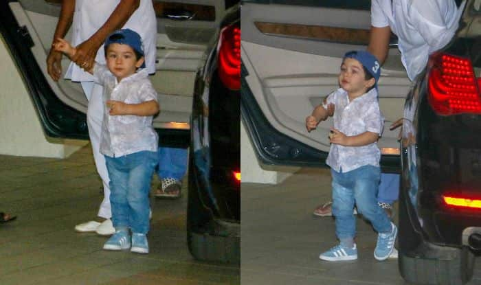 Taimur Ali Khan is The Epitome of Coolness in His White Shirt, Blue Denim And Cap Worn Backwards