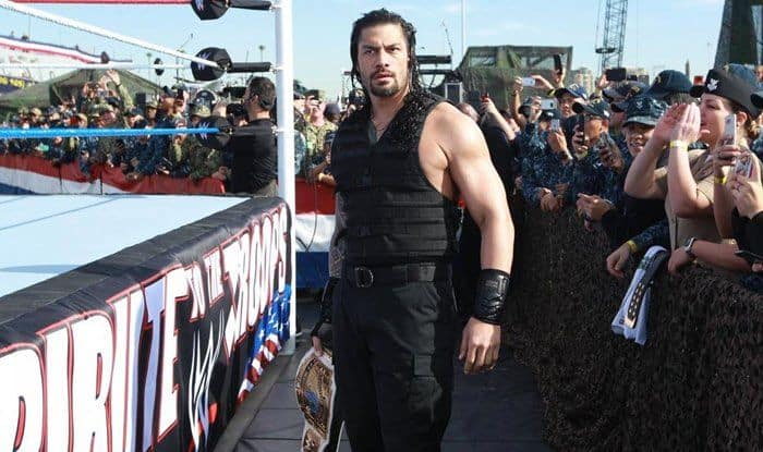 WWE Superstar Roman Reigns in Tribute For Troops_picture credits-Twitter