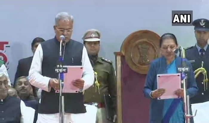 Chhattisgarh Assembly Election 2018: Bhupesh Baghel Takes Oath as Chief Minister