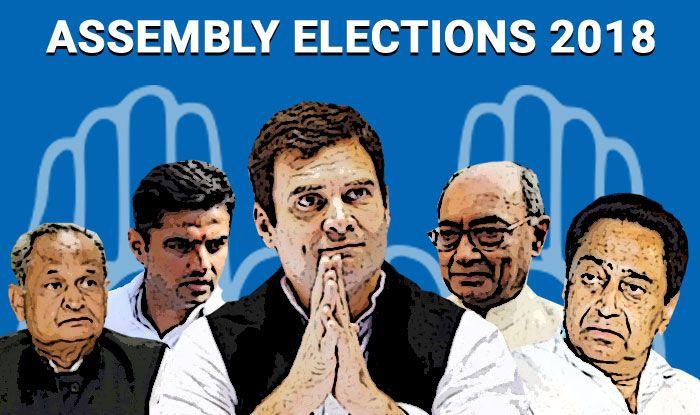 Assembly Elections 2018 Results: Ashok Gehlot, Kamal Nath, Bhupesh Baghel Remain Frontrunners For CM Post in Rajasthan, Madhya Pradesh, Chhattisgarh; Rahul Gandhi to Take Final Call Today