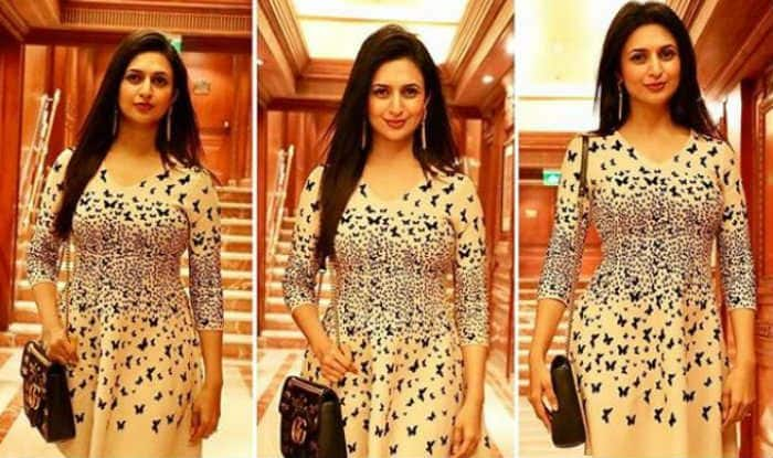 Yeh Hai Mohabattein Actress Divyanka Tripathi Looks Hot AF in Short Beige Butterfly Dress , See Pic