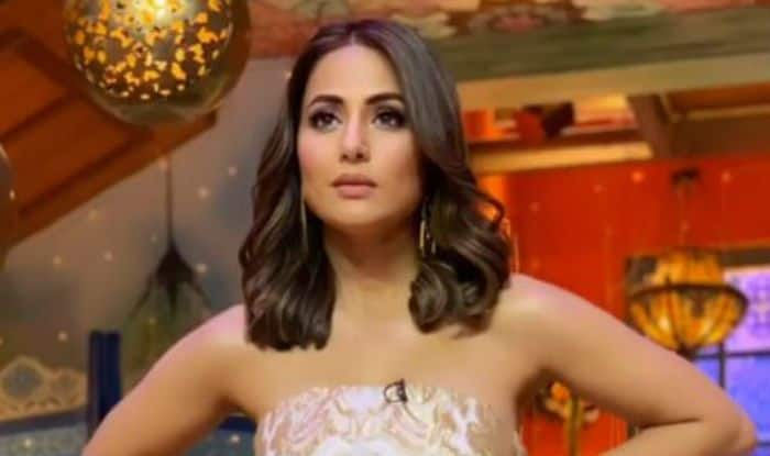 Hina Khan Looks Hot AF in Shimmery White Gown And Short Hair, See Sexy Pics