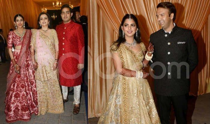 Isha Ambani-Anand Piramal Second Wedding Reception Pics: Couple Poses With Their Families, Big Names Arrive