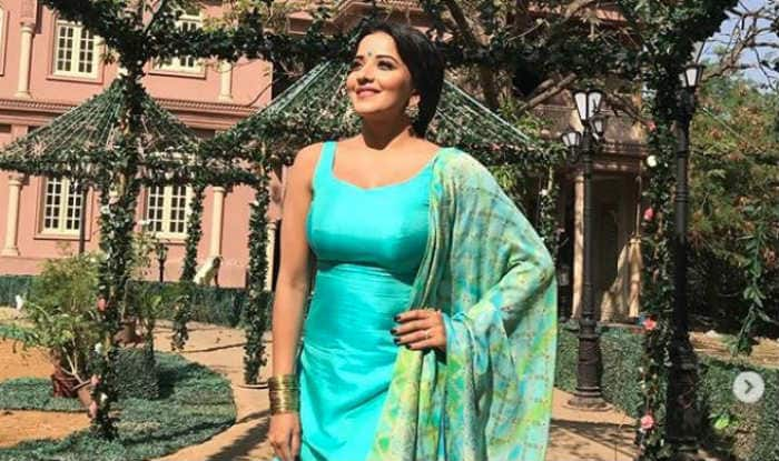 Bhojpuri Hot Actress And Nazar Fame Monalisa is Turning up The Heat in Light Blue Suit in Sunkissed Pictures, See Here