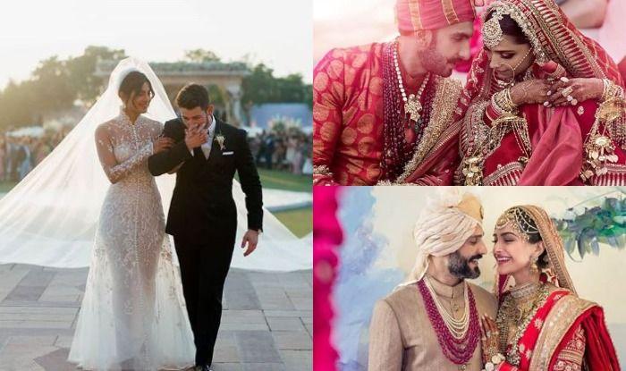 Deepika, Priyanka, Sonam with their grooms