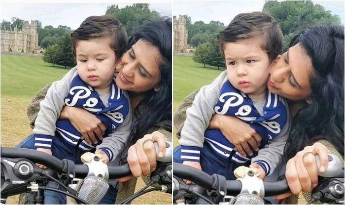 Saif Ali Khan And Kareena Kapoor Khan's Baby Taimur Ali Khan Enjoys a Bicycle Ride in London, See Pics