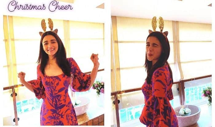Alia Bhatt Makes Cute-Silly Faces as She Strikes Poses For Sister Shaheen Bhatt During Their Christmas Celebrations, See Pictures