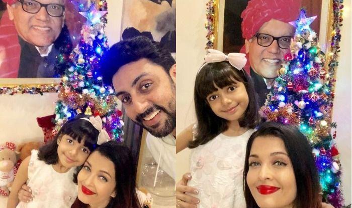Abhishek Bachchan, Aishwarya Bachchan and Aaradhya Bachchan