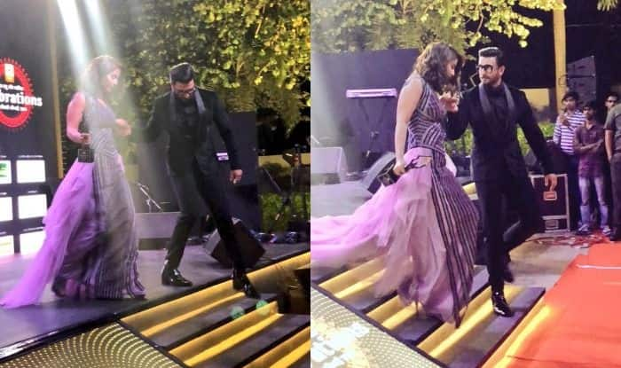 Hina Khan Gets Overwhelmed by Ranveer Singh's Kind Gesture at an Awards Show, Latter Shares 'Aww Moment' on Twitter, See Pictures