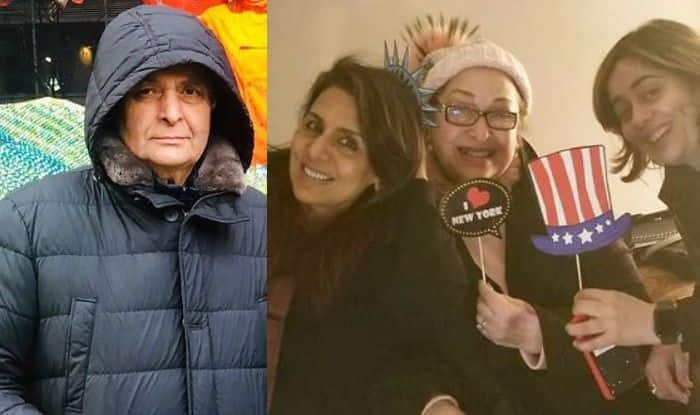 Neetu Kapoor Shares Picture of Husband Rishi Kapoor Shopping While She Parties With Her Girl-Gang