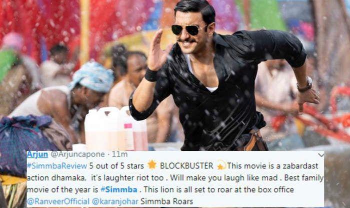 Simmba Twitter Review: Ranveer Singh- Sara Ali Khan Film Gets a High Five, Twitterati Says It's Paisa Vasool