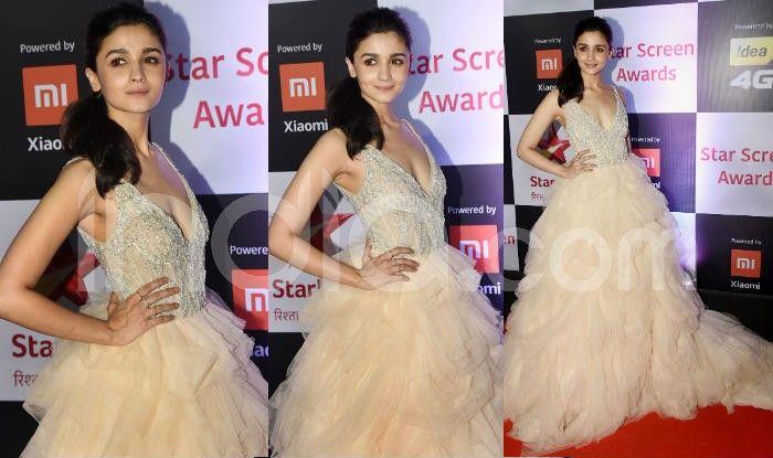 Alia Bhatt at the red carpet of Star Screen Awards 2018. Photo Courtesy: Yogen Shah/ India.com