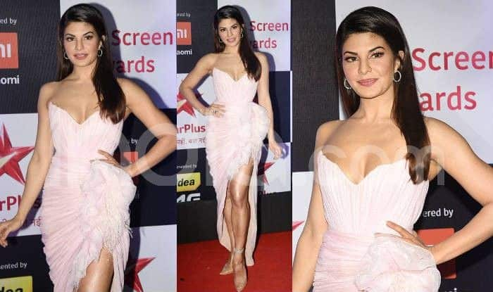Jacqueline Fernandes at the red carpet of Star Screen Awards 2018. Photo Courtesy: Yogen Shah/ India.com