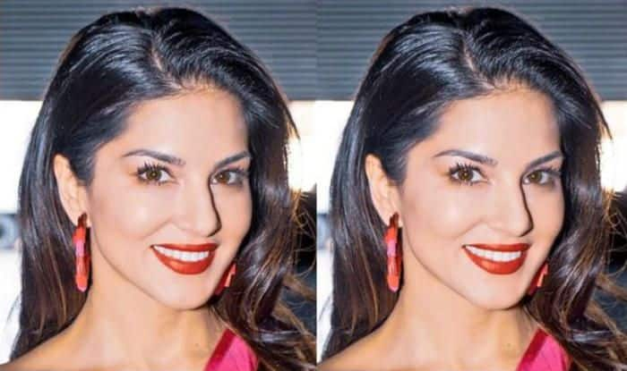 Sunny Leone Raises The Temperature in Sexy Pink Dress And Hot Cherry Red Lipstick- See Picture