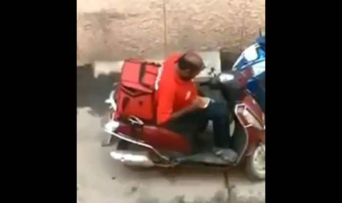 Hungry Zomato Delivery Boy Purportedly Opens Packed Food, Eats And Seals it Back, Watch Viral Video