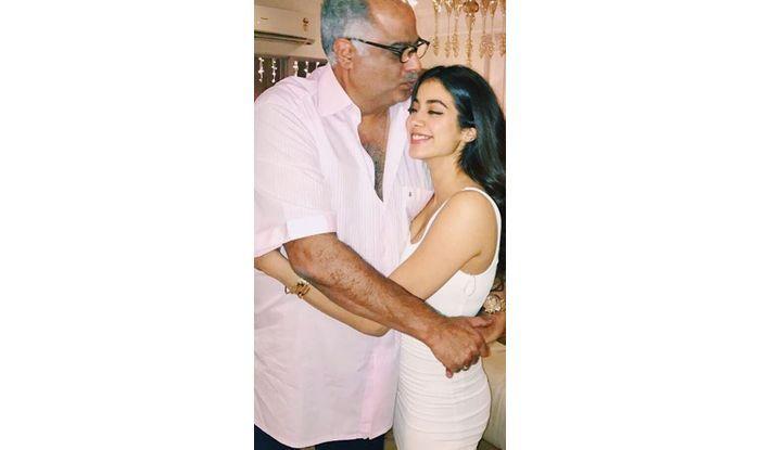 Janhvi Kapoor and Boney Kapoor