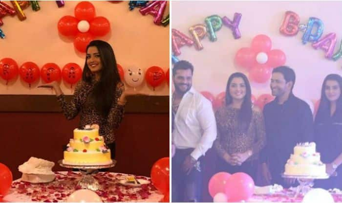 Bhojpuri Bombshell Amrapali Dubey Looks Hot in Leopard Print Top And Denim as She Celebrates Her Birthday With Dinesh Lal Yadav, Khesari Lal Yadav And Others