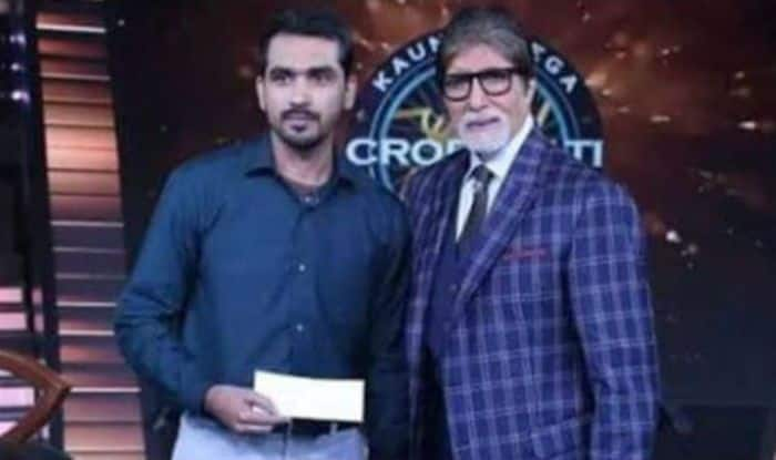 Faiz Mohammad Khan with Big B on KBC 10