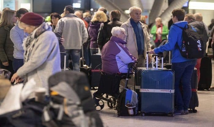Over 1 Lakh Passengers Affected in All-day Strike by Security Workers at German Airports