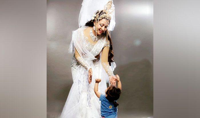 Hema Malini with her grandchild