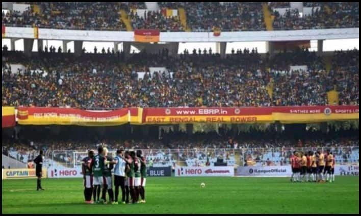 Mohun Bagan vs East Bengal Derby Clash I-league season 2018-19_Picture credits-Twitter