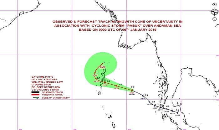 Cyclone Pabuk: Meteorological Department Issues Orange Alert For Andaman Islands