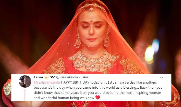 Preity Zinta's birthday wishes