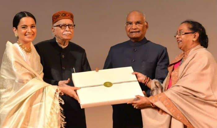 President Kovind Felicitates cast of Manikarnika